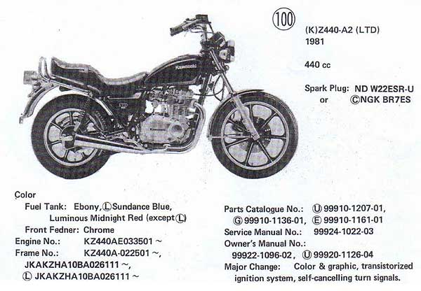 1982 kawasaki 440 ltd manual