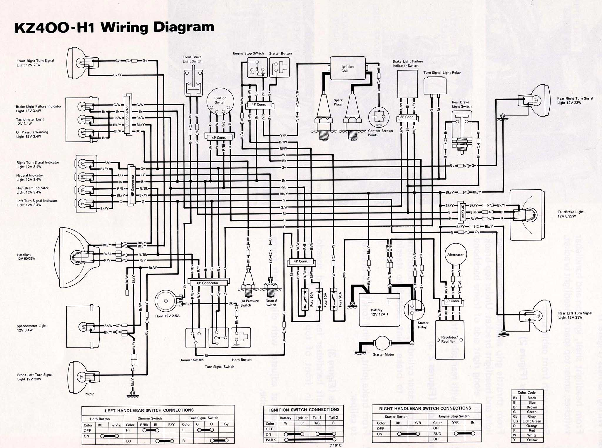 Rotation of KZ400 H1 LTD 22 index of techh tips bilder wiring diagrams 1980 kawasaki 440 ltd wiring diagram at bakdesigns.co